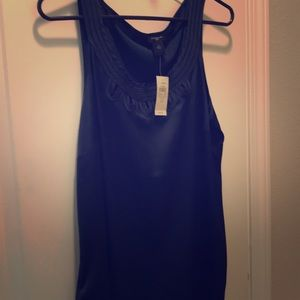Silk tank, dark blue